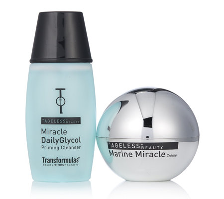 Transformulas Marine Miracle Creme 50ml & Miracle Daily Glycol Cleanser