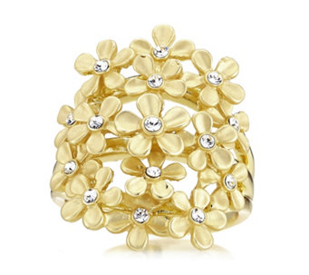 Roberto by RFM Giardino Crystal Flower Ring - 304700
