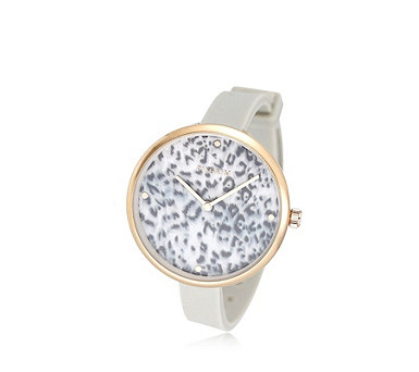 Pilgrim Patterned Face Silicone Strap Watch - 308500