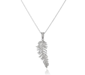 Frank Usher Crystal Feather Pendant 42cm Necklace - 308700
