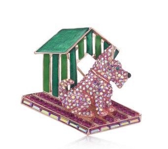 Butler & Wilson Crystal Dog & Kennel Brooch - 310000