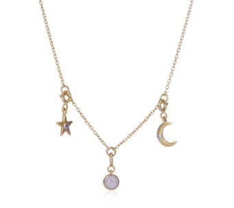 Lisa Snowdon Diamond Cosmic Charm Necklace Sterling Silver - 310100