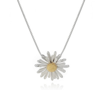 Azendi Birthday Flowers Daisy 45cm Necklace Sterling Silver - 312000