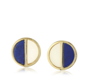 Lola Rose Boutique Garbo Divided Circle Semi Precious Earrings - 308901