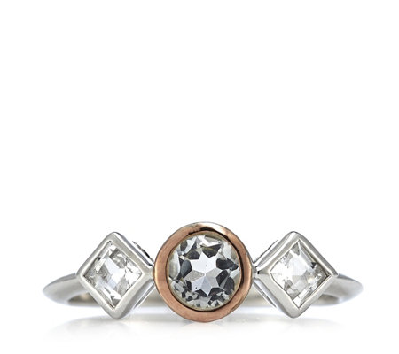 Clogau 9ct Rose Gold & Sterling Silver Welsh Royalty Topaz Ring