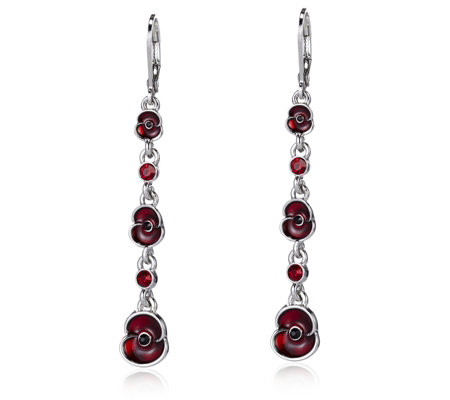 The Poppy Collection Drop Earrings by Buckley London
