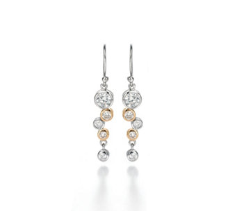 Fiorelli Waterfall Drop Earrings Gold Plated Sterling Silver - 314701