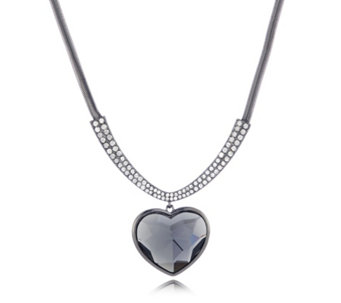 Frank Usher Faceted Crystal Heart 50cm Necklace - 307502