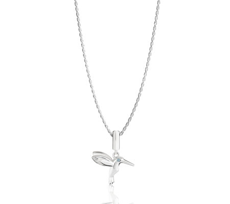 Chamilia Hummingbird Icon Necklace with Swarovski Crystal Sterling Silver