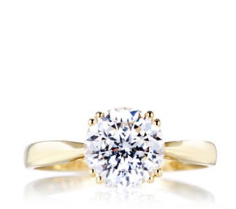 Diamonique 2ct tw 100 Facet Solitaire Ring 9ct Gold - 309602