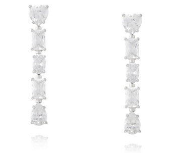 Michelle Mone for Diamonique 4ct tw Mixed Cut Drop Earrings Sterling Silver - 315002