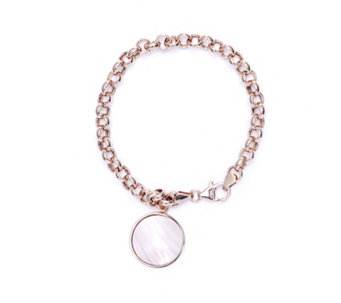 Bronzo Italia Celebration Collection, Pink Mother of Pearl 19cm Bracelet - 312303