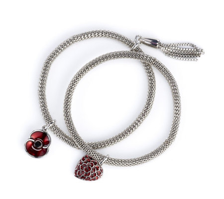 The Poppy Collection Set of Two Bracelets by Buckley London