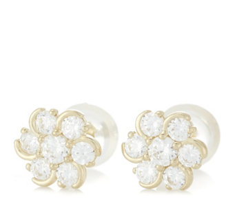 Diamonique 0.3ct tw Cluster Stud Earrings 9ct Gold - 312603