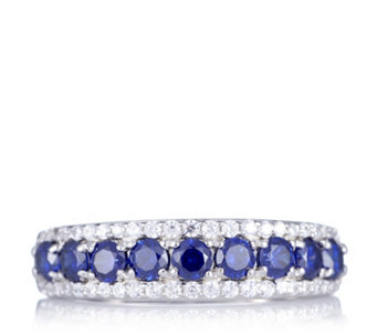 Diamonique 1ct tw Simulated Tanzanite Band Ring Sterling Silver - 308204