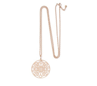 Rosalie Lucina Papillon 85cm Disc Necklace Stainless Steel - 309005