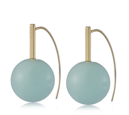 """As Is"" Pilgrim Semi Precious Stone Ball Earrings"
