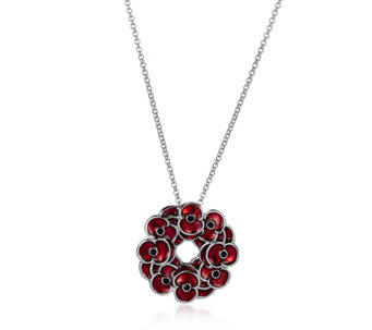 The Poppy Collection Wreath Pendant 46cm Necklace by Buckley London - 312505
