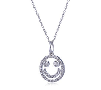Lisa Snowdon Diamond Happy Face 45cm Necklace Sterling Silver - 314805