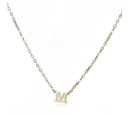 9ct gold initial pendant 45cm necklace qvc uk 9ct gold initial pendant 45cm necklace mozeypictures Gallery