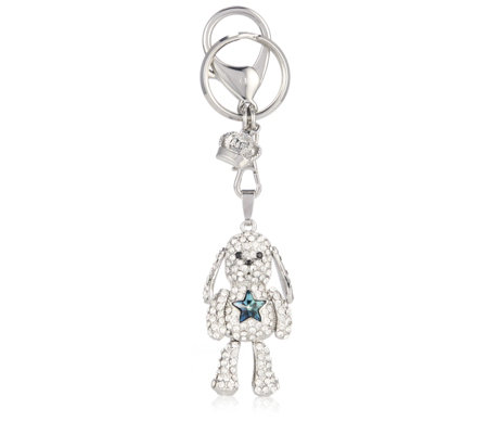 Butler & Wilson Crystal Dog with Star Keyring