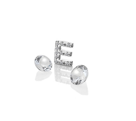 Anais Initial E Charm Sterling Silver