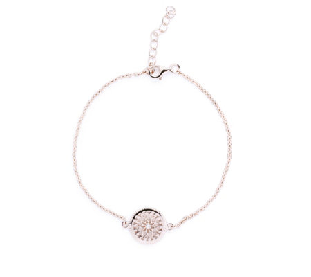 Lisa Snowdon Diamond Circle Bracelet Sterling Silver
