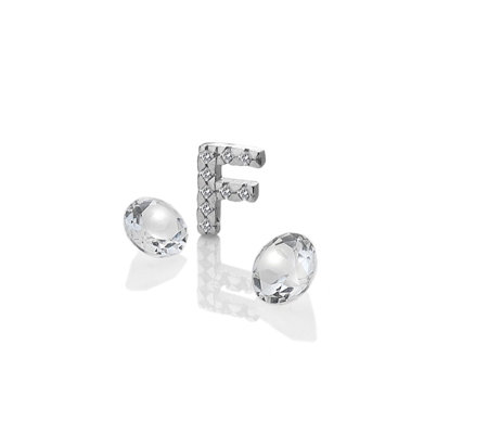 Anais Initial F Charm Sterling Silver
