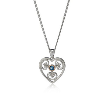 Clogau 9ct Rose Gold & Sterling Silver Kensington Heart & 56cm Chain - 312408
