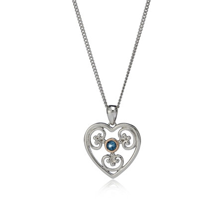 Clogau 9ct Rose Gold & Sterling Silver Kensington Heart & 56cm Chain