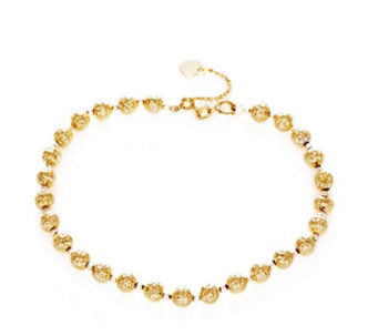 9ct Gold Faceted Bead 18cm Bracelet with 5cm Extender - 312708