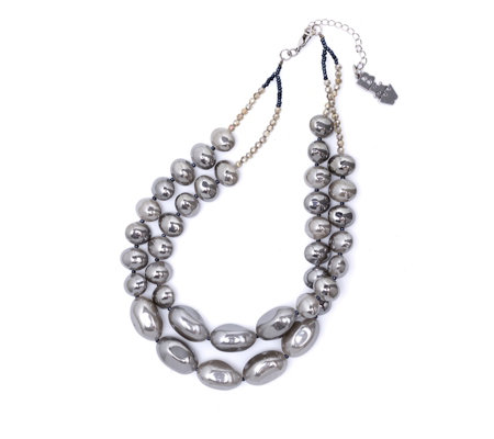 Butler & Wilson Two Row Bead 44cm Necklace