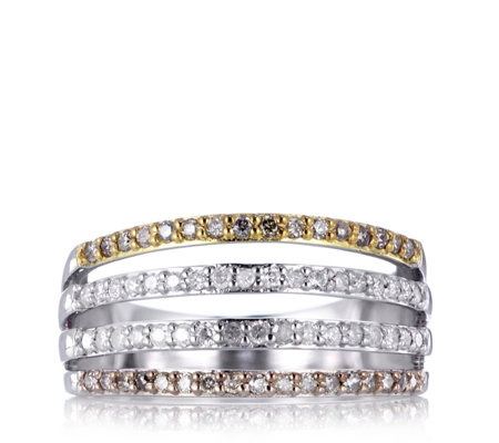 Lisa Snowdon Diamond 1/2 Eternity Stack Ring Sterling Silver