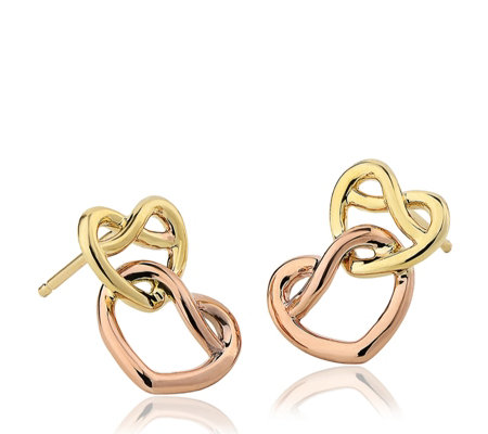 Clogau 9ct Gold David Emanuel Love Knot Earrings