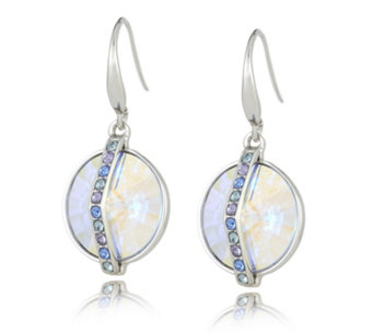 Crystal Glamour with Swarovski Crystals Iridescent Drop Earrings - 313909