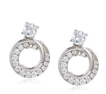 Diamonique 0.29ct tw Convertible Jacket Earrings Sterling Silver - 308210