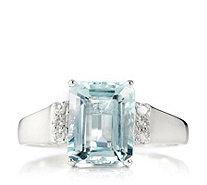 2.85ct Aquamarine & Diamond Accent Octagon Cocktail Ring 9ct Gold - 326410
