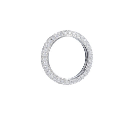 Diamonique 2.2ct tw Full Pave Eternity Ring Sterling Silver