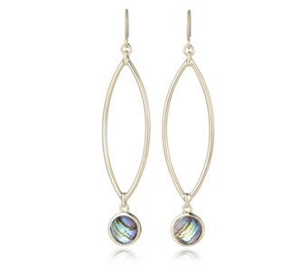 Honora 8mm Abalone Drop Earrings Sterling Silver - 307111