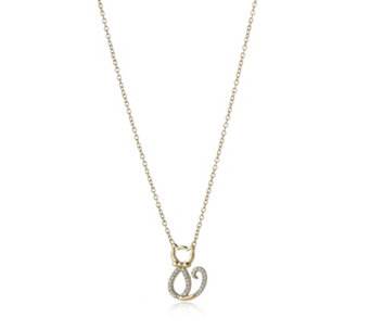 0.05ct Diamond Kitty 45cm Necklace 9ct Gold - 315011