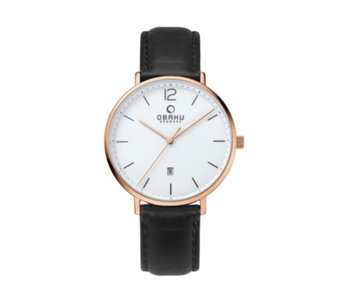 Obaku Men's Toft Leather Strap Watch - 316011