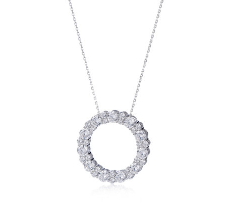 Michelle Mone for Diamonique 6.8ct tw Circle Pendant & Chain Sterling Silver