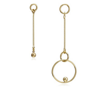 Pilgrim Interlocking Circles Suspended Ball Earrings - 312812