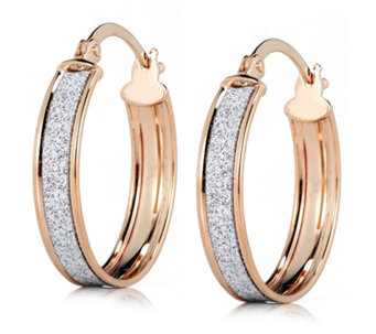 9ct Gold Small Stardust Creole Earrings - 306113