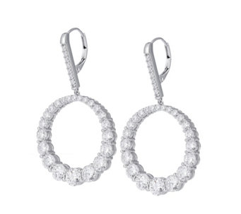 Michelle Mone for Diamonique 11ct tw Hoop Earrings Sterling Silver - 310013