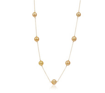 9-10mm Cultured South Sea Pearls 45cm Necklace 18ct Gold - 312313