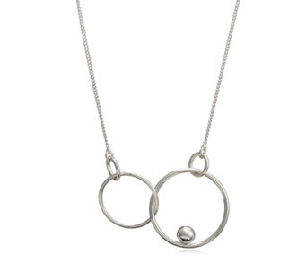 Pilgrim Interlocking Circles Suspended Ball 32cm Necklace - 312813