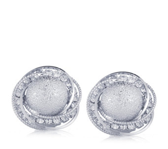 Frank Usher Crystal Brushed Clip On Earrings - 309114
