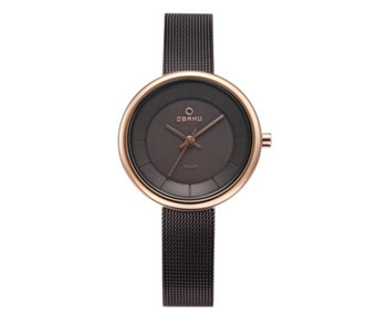 Obaku Ladies Lys Solar Mesh Strap Watch - 316014