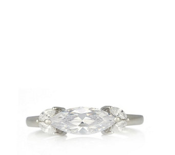 Diamonique 2.4ct tw Marquise East West Ring Sterling Silver - 309715